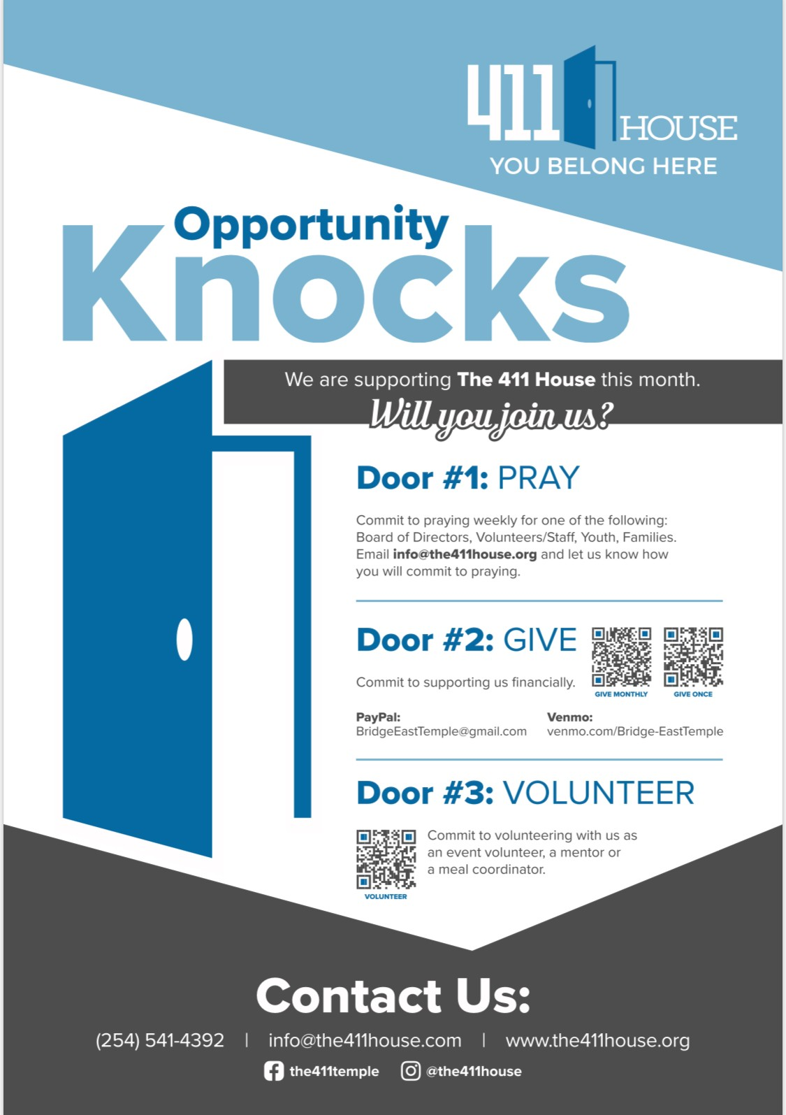 Opportunity Knocks Campaign poster